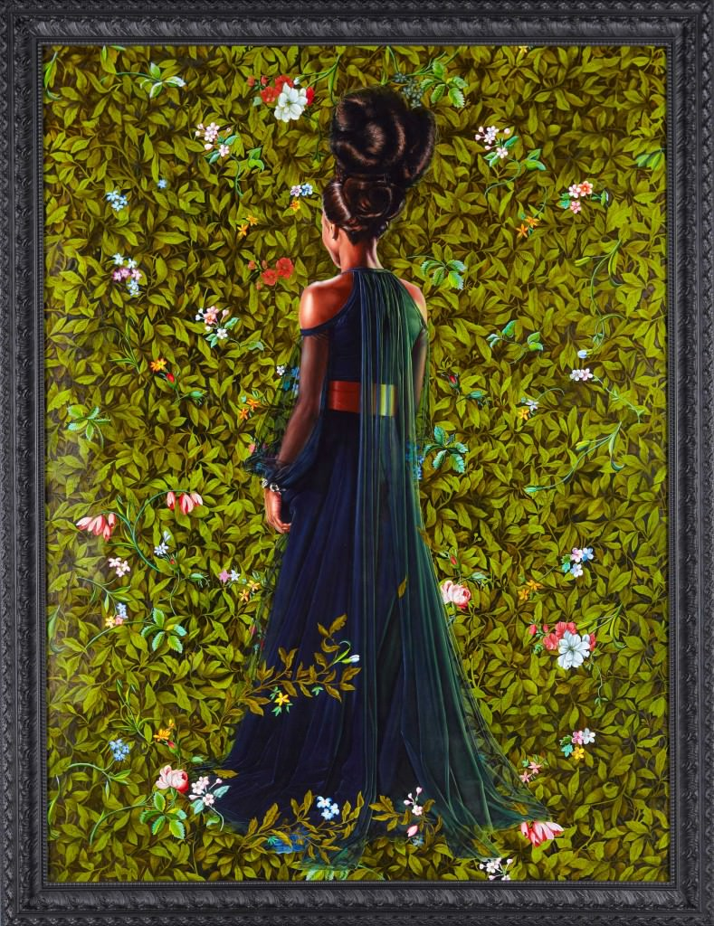 "AN ECONOMY OF GRACE; PRINCESS VICTOIRE OF SAXE-COBURG-GOTHA, 2012 ; OIL ON LINEN 96"" X 72"".  Courtesy Kehinde Wiley"