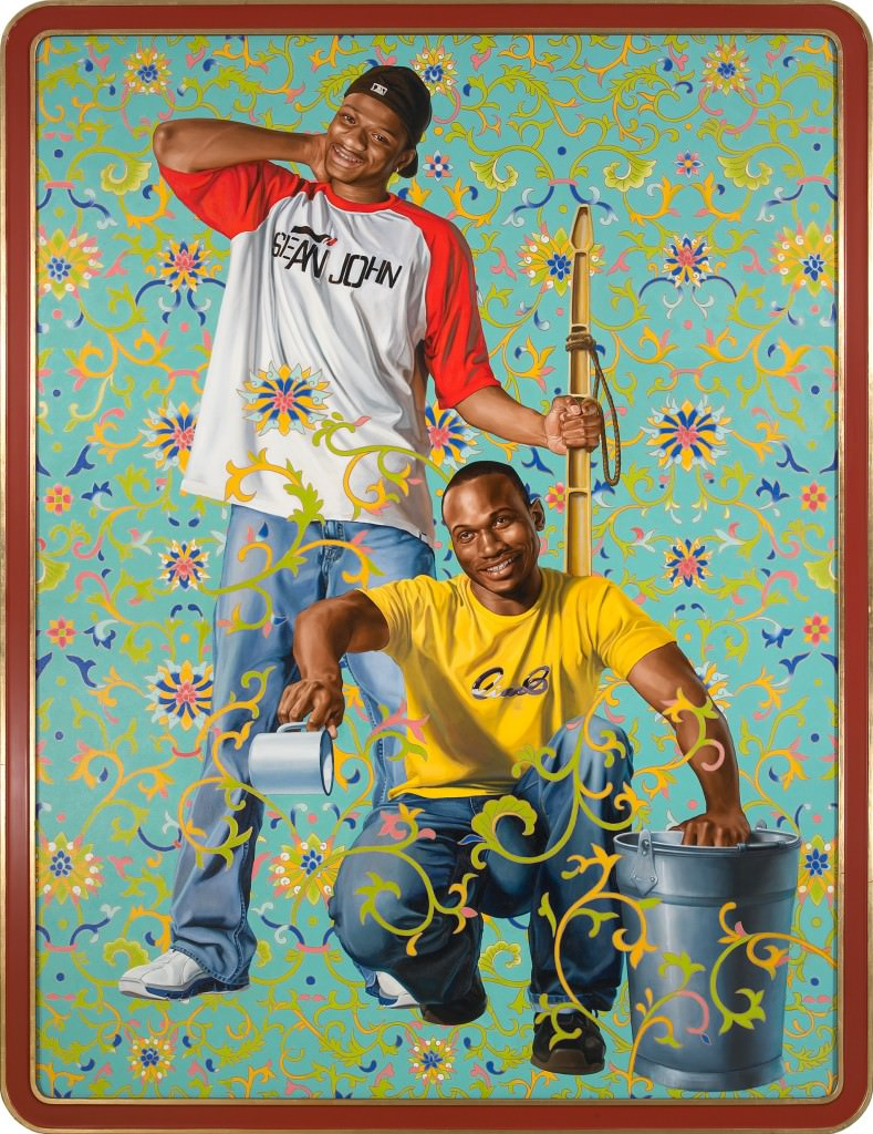 CHINA; BAMBOO SHOOTS , 2007; OIL ON CANVAS 96 X 72 INCHES. Courtesy  Kehinde Wiley