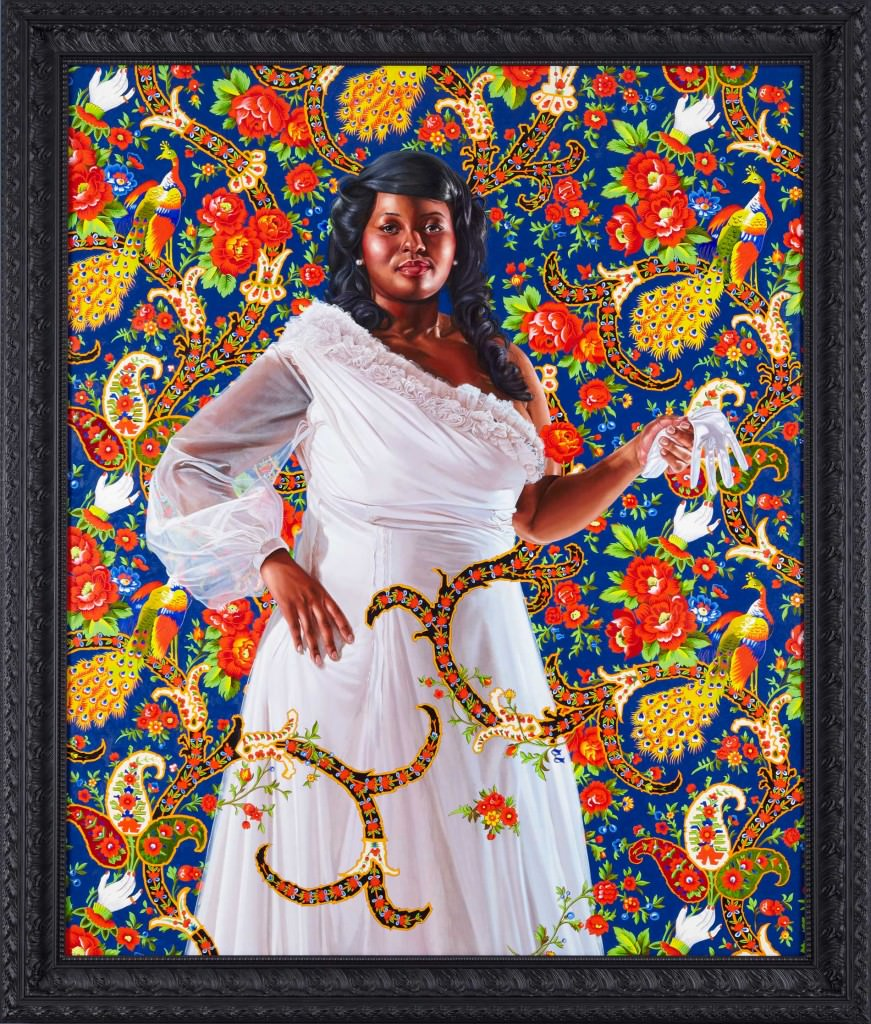 "AN ECONOMY OF GRACE; ENA JOHNSON, 2012 ; OIL ON CANVAS 70"" X 60"". Courtesy  Kehinde Wiley"