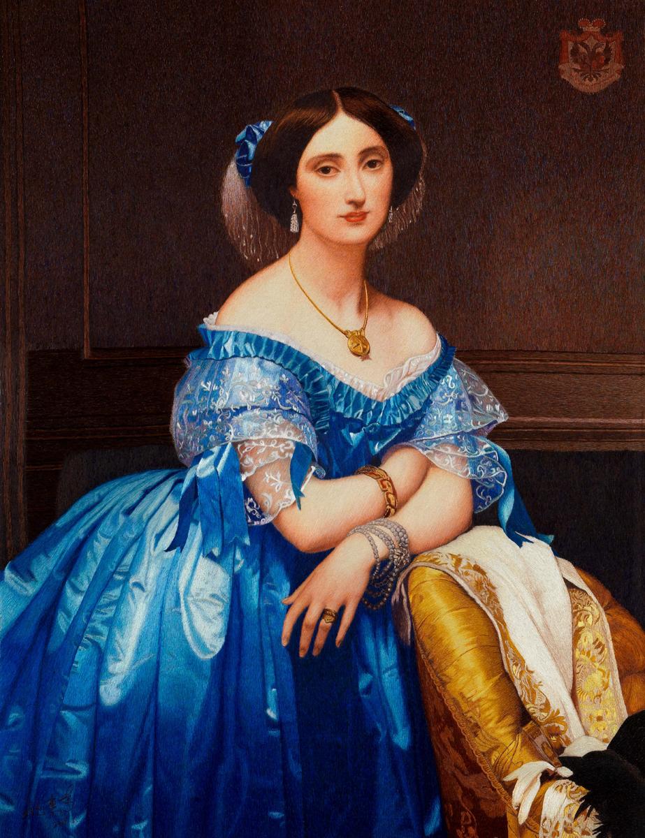 Principessa di Broglie (Ingres), ricmo a cuciture casuali, 60x80cm, 2006