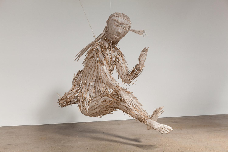 Ai Wewei, Taifeng, 2015 Bamboo e seta. 167 x 86 x 200 cm. photo © Ai Weiwei Studio, Berlín, 2017