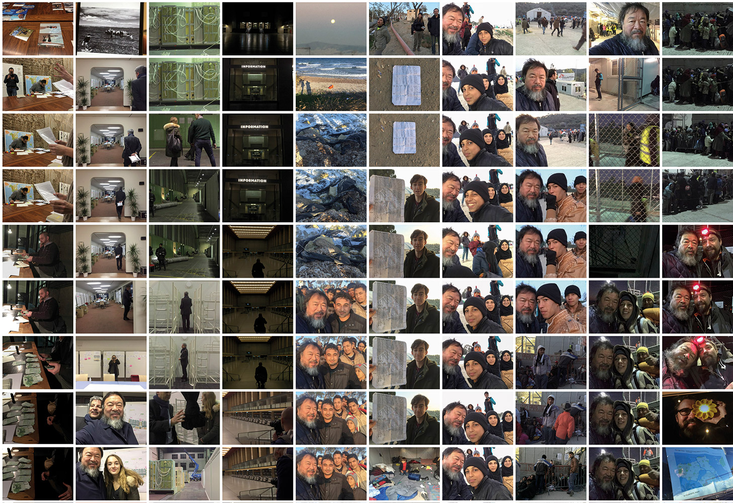 Ai Weiwei, 320 Photos Related to Refugees, 01.12 - 01.27, 2015 Wallpaper. Digital Print. photo © Ai Weiwei Studio, Berlín, 2017 Medidas variables