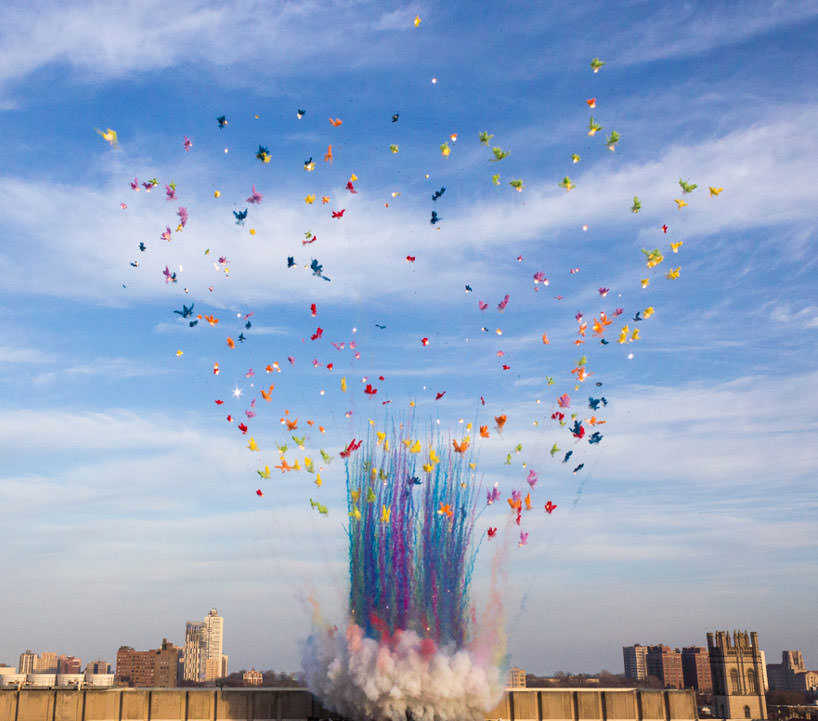 cai guo quiang, color moshroom cloud, photo by zoheyr doctor and reed essick, courtesy cai studio