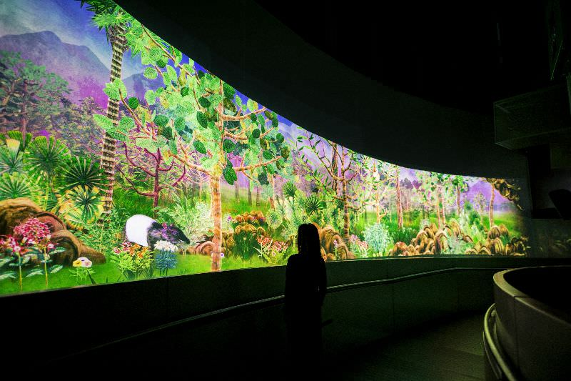 Teamlab,'Story of the Forest', National Museum of Singapore