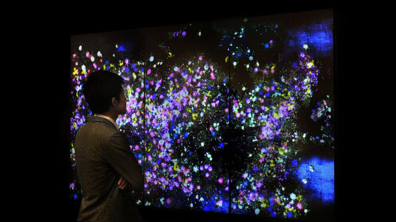 Teamlab,'Flowers and People - Dark', National Gallery of Singapore
