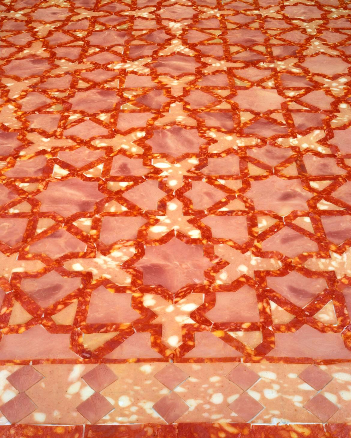 Wim Delvoye, Marble Floor, 2000, 125 x 100cm, cibachrome on aluminium