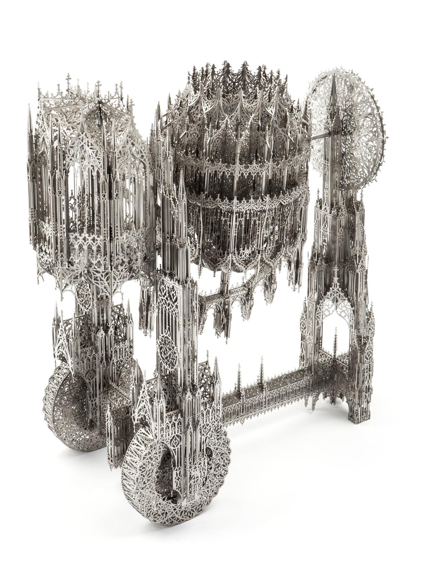 Wim Delvoye, Concrete Mixer, 2013, L 84,5 x 45 x H 105 cm, laser-cut stainless steel