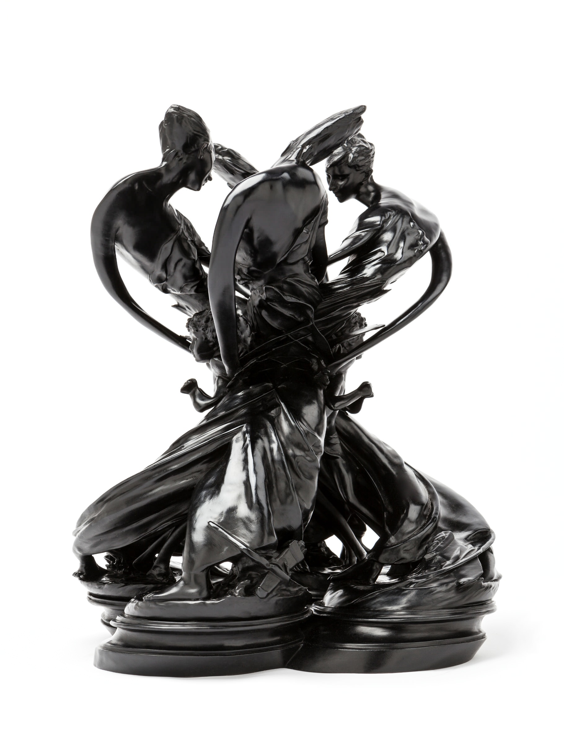 Wim Delvoye, L'Amour D+®sarm+® Rorschach, 2016, 58 x 58 x 74cm, patinated bronze