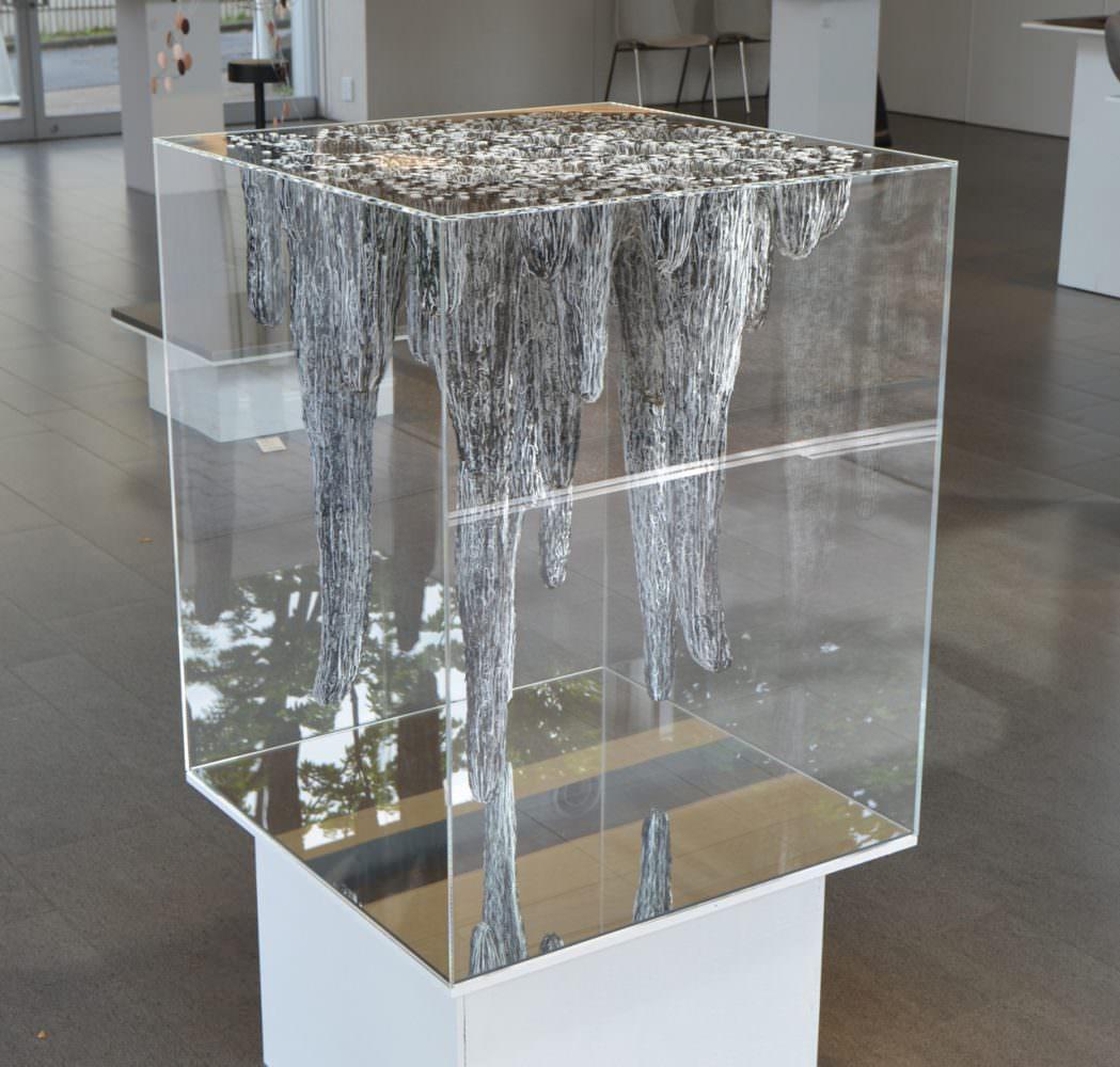Onishi Yasuaki, 'Inside Volume', 2015 / h110(80), w65, d65cm / acrylic box, glue, other, Art in the Office CCC AWARDS / Daikanyama T-SITE Garden Gallery , Tokyo Japan