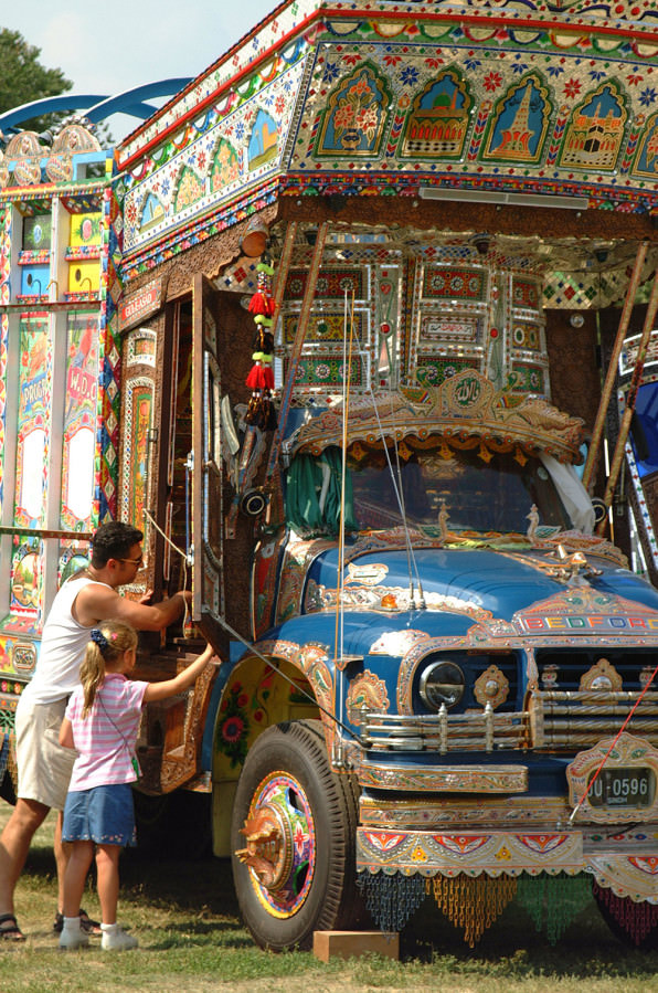 Haider Ali and Jamil-ud-Din's 2002 Jingle Truck, commissioned by the Smithsonian Institution. photo: Mary Martin, Smithsonian Institution
