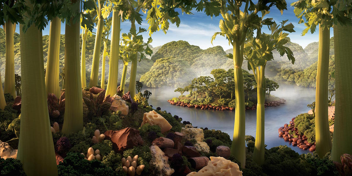 carl warner, serie foodscapes,