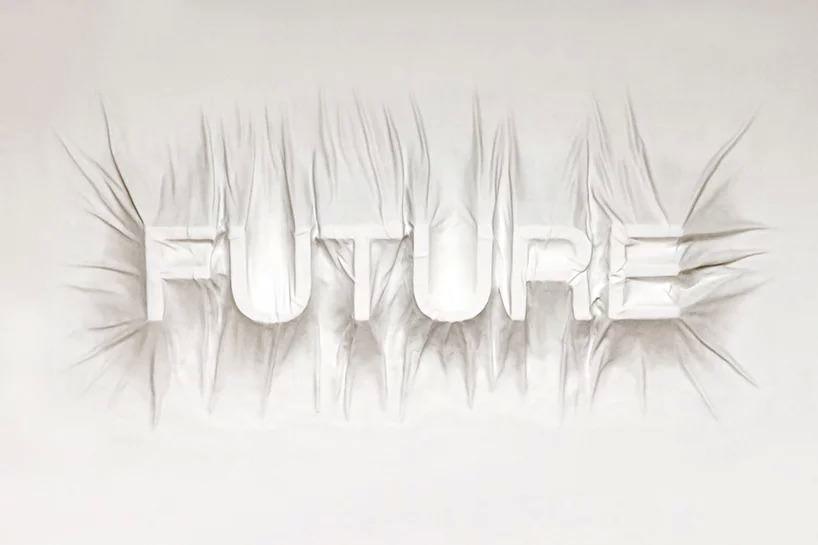 Future, 2017; intonaco, schiuma, vernice. Photo Courtesy VDNH, Mosca, Russia