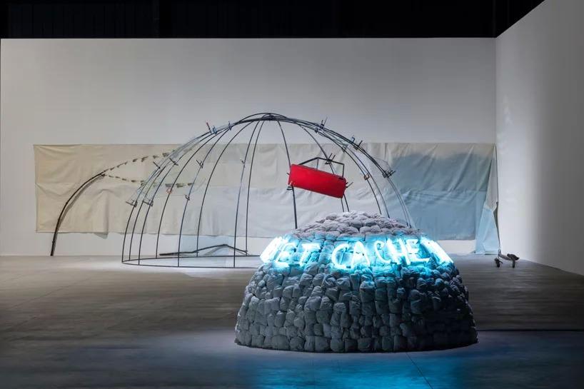 mario merz igloos, exhibition view at pirelli hangarbicocca, milan, 2018; courtesy pirelli; hangarbicocca, milan; photo: renato ghiazza © mario merz, by siae 2018