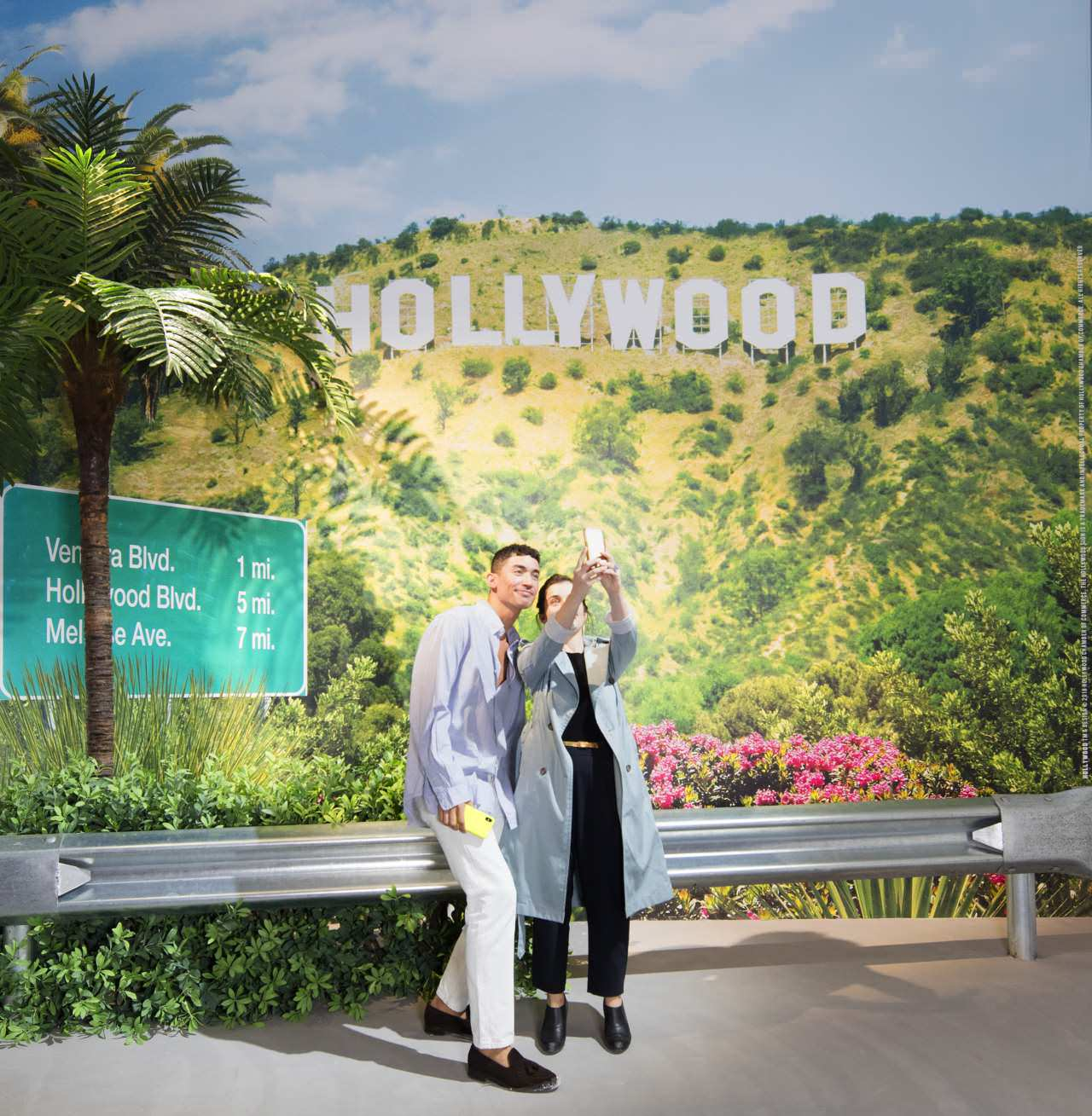 The Artist is Present, Shanghai 2018. Exhibition View. HOLLYWOOD TM & Design © 2018. Hollywood Chamber of Commerce. The Hollywood Sign is a trademark and intellectual property of Hollywood Chamber of Commerce. All Rights Reserved.