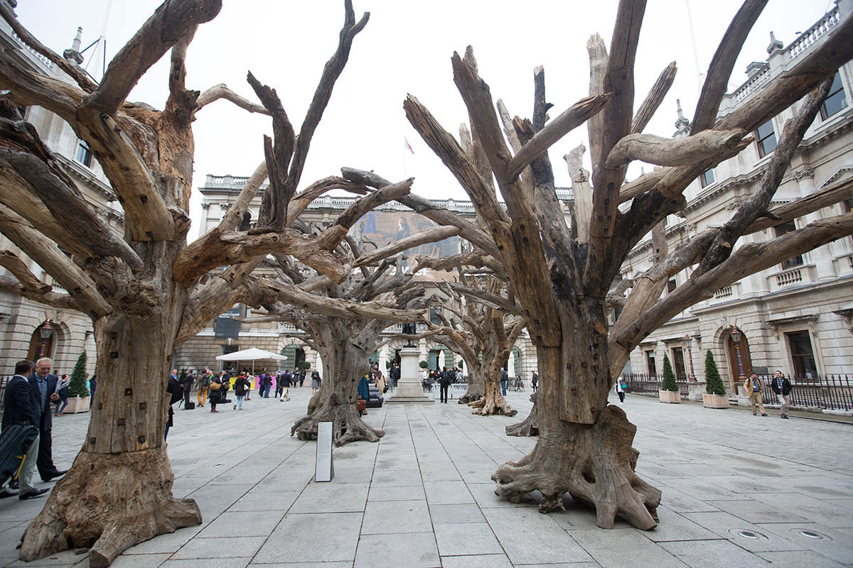 Ai Weiwei, Tree, 2009-10, 2015. Installation at the Royal Academy of Arts, London 2015. Photo © David Parry.