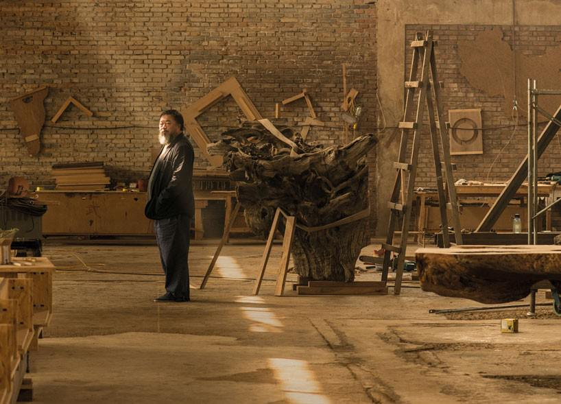 Ai Weiwei in his studio Photograph © Harry Pearce/Pentagram 2015