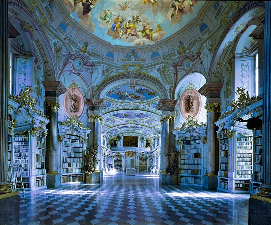 Biblioteca di Admont, Austria 1994. © MassimoListri