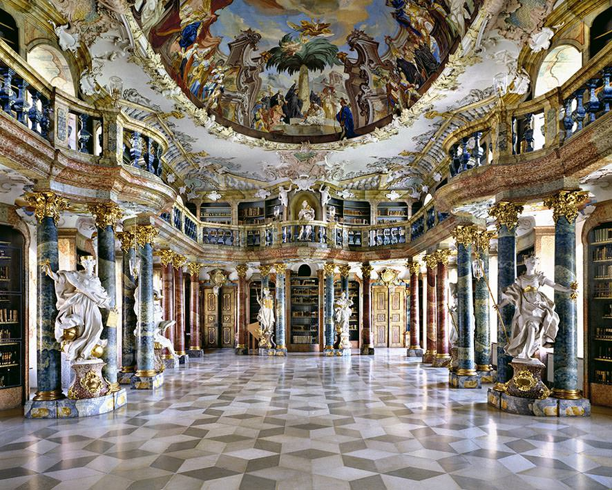 Biblioteca dell'Abbazia di Wiblingen, Germania. © MassimoListri