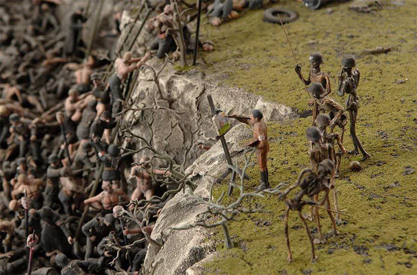 fucking hell, jake & dinos chapman, detail; photo © designboom