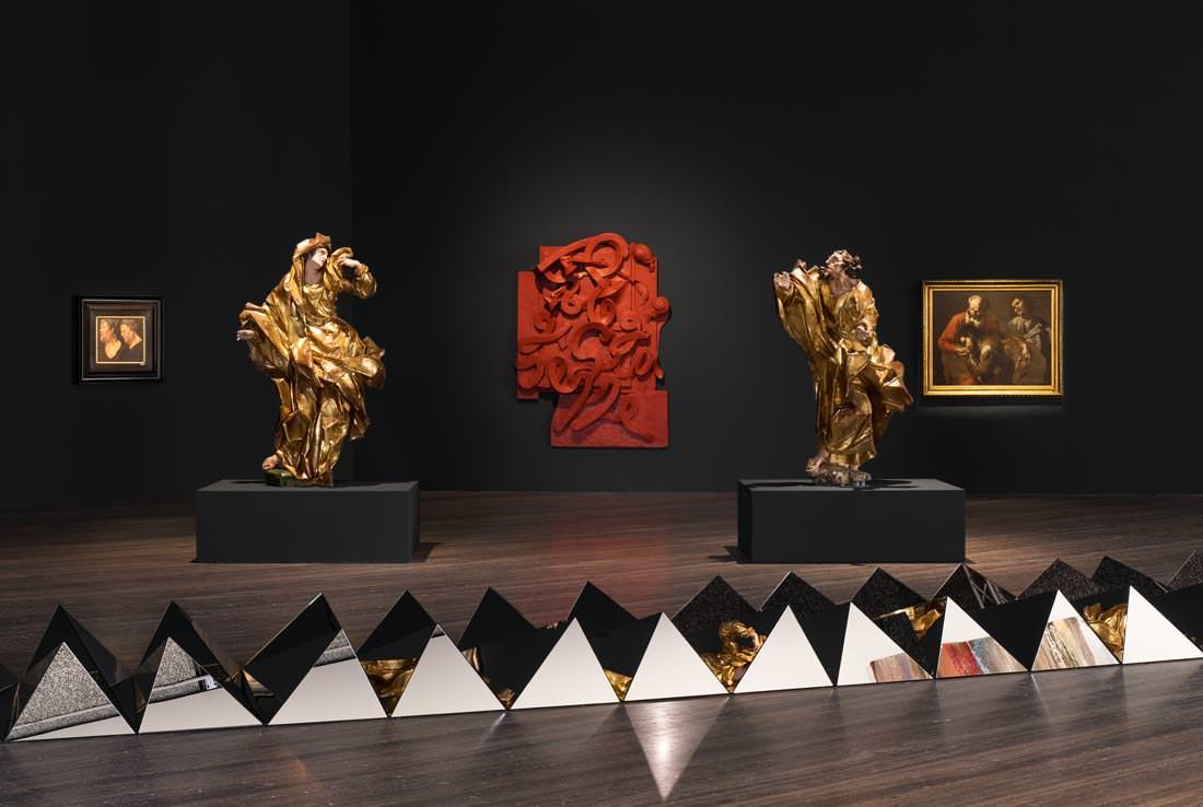 exhibition view of sanguine. luc tuymans on baroque. photo: delfino sisto legnani e marco cappelletti