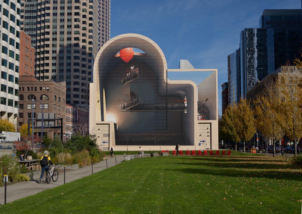 Mehdi Ghadyanloo, Spaces of Hope, Greenway Wall, Boston