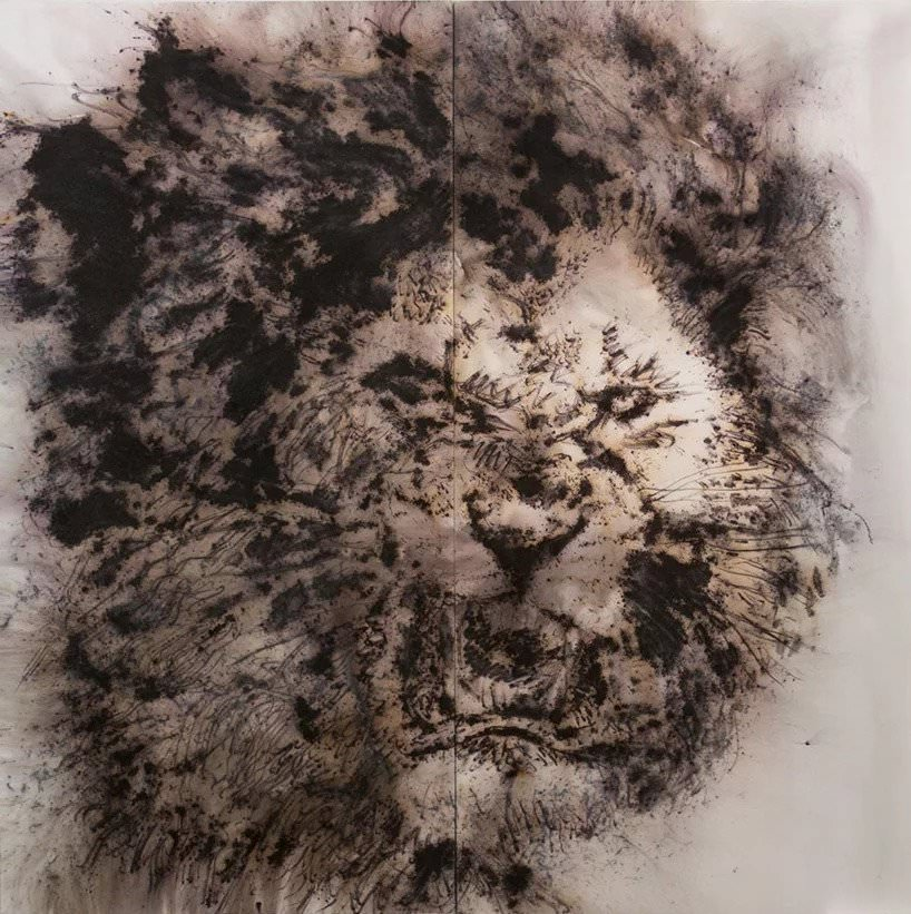 cai guo qiang, study for pompeii: fierce lion (2018); photo by yvonne zhao, courtesy cai studio
