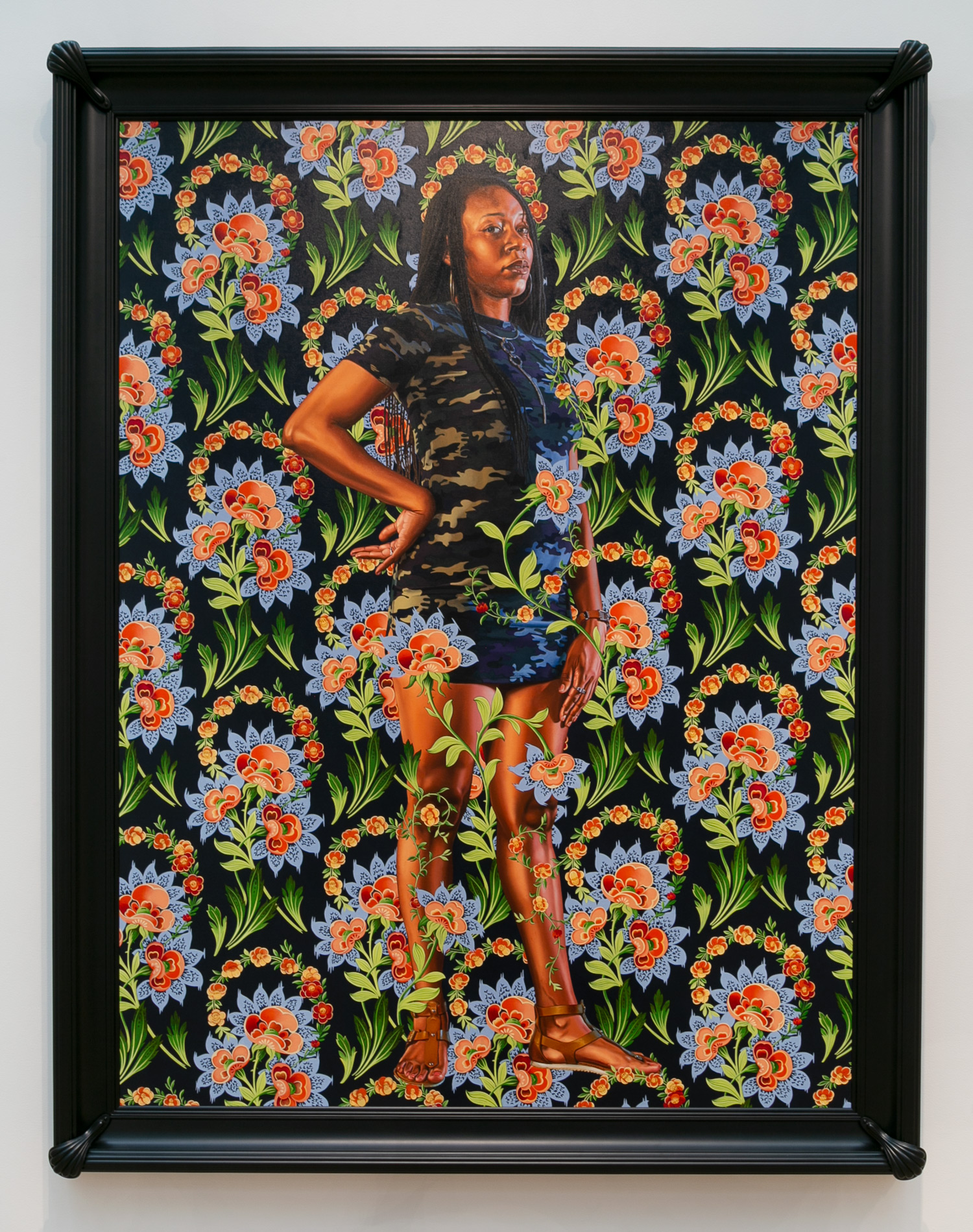 Kehinde Wiley, American, born 1977; Charles I, 2018;; oil on linen; image: 96 × 72 inches;; Courtesy of the artist and Roberts Projects, Los Angeles, California 2018.124;© Kehinde Wiley