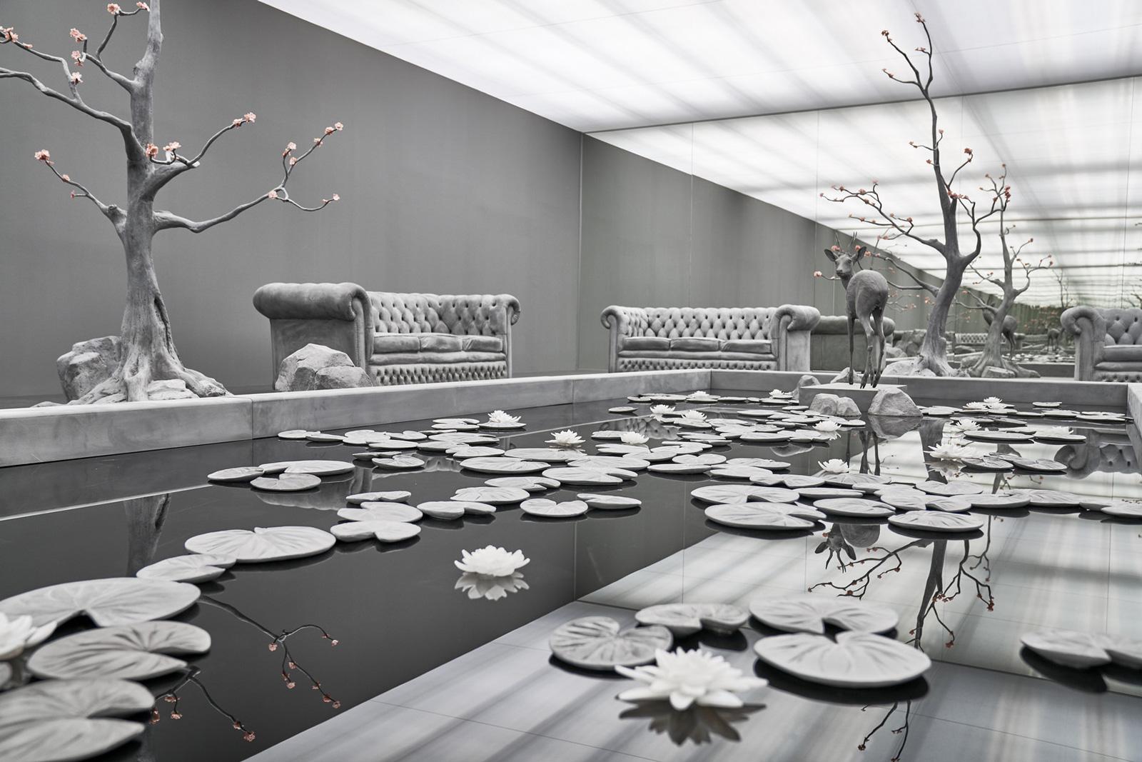 Hans Op de Beeck, The Garden Room, sculptural installation, 2017