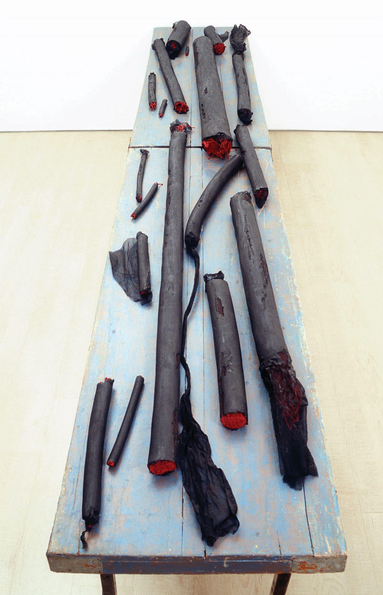 Sheela Gowda; Breaths, 2002 (dettaglio); Collezione Sunitha and Niall Emmart. Courtesy dell'artista