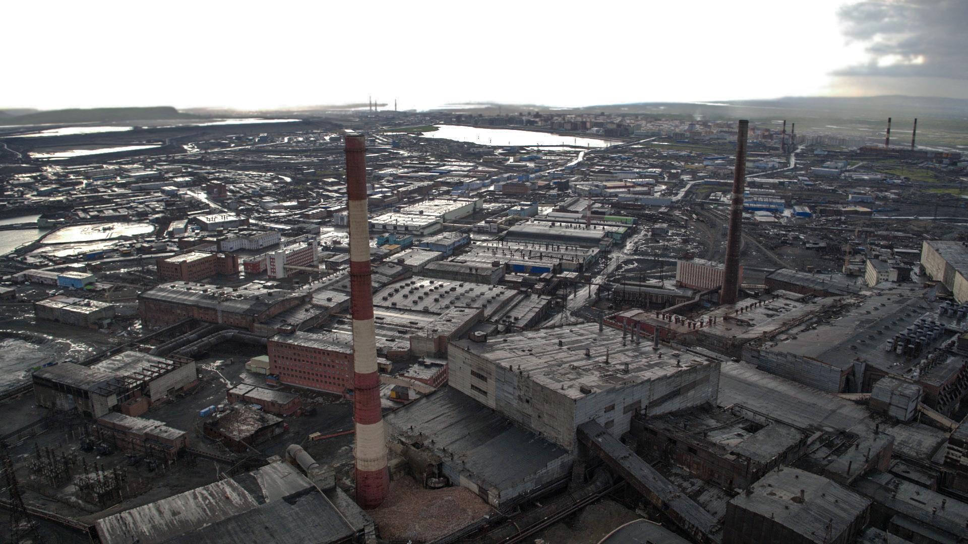 La città industriale Norilsk nel Territorio di Krasnojarsk, nella Siberia settentrionale. Film Still