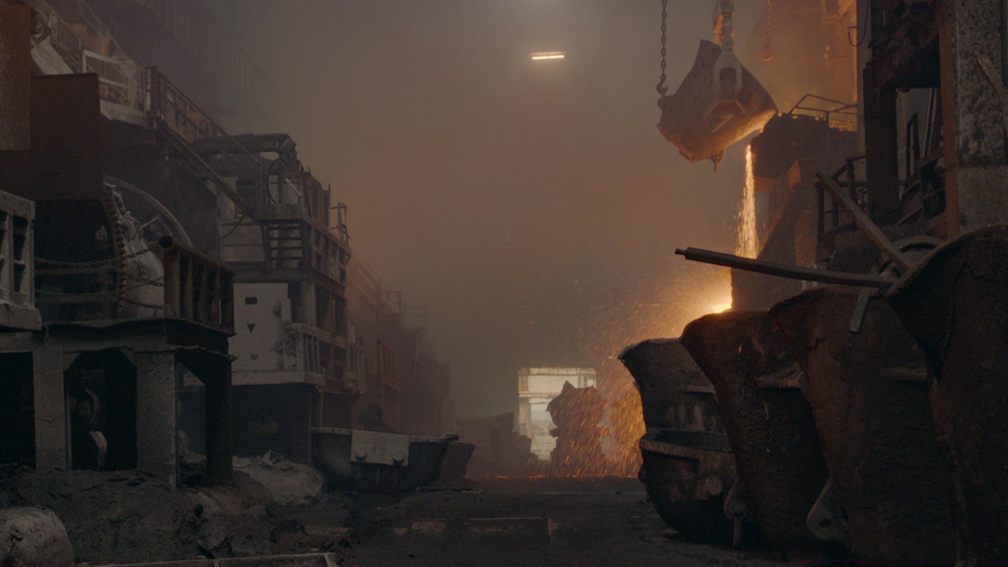 La fusione del metallo a Norilsk. Film still