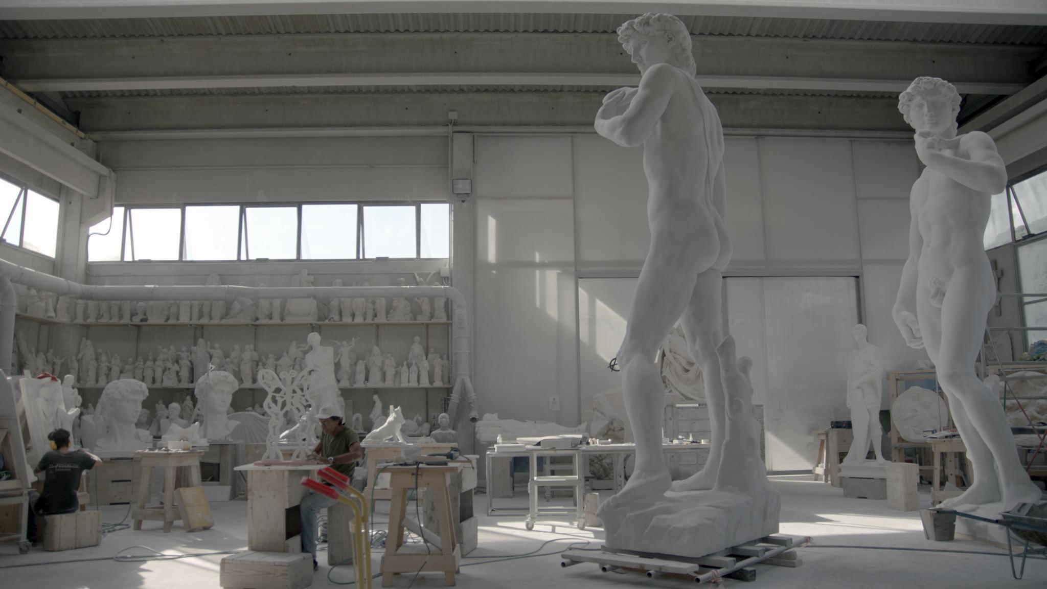 Lavorazione del marmo a Carrara. Film Still