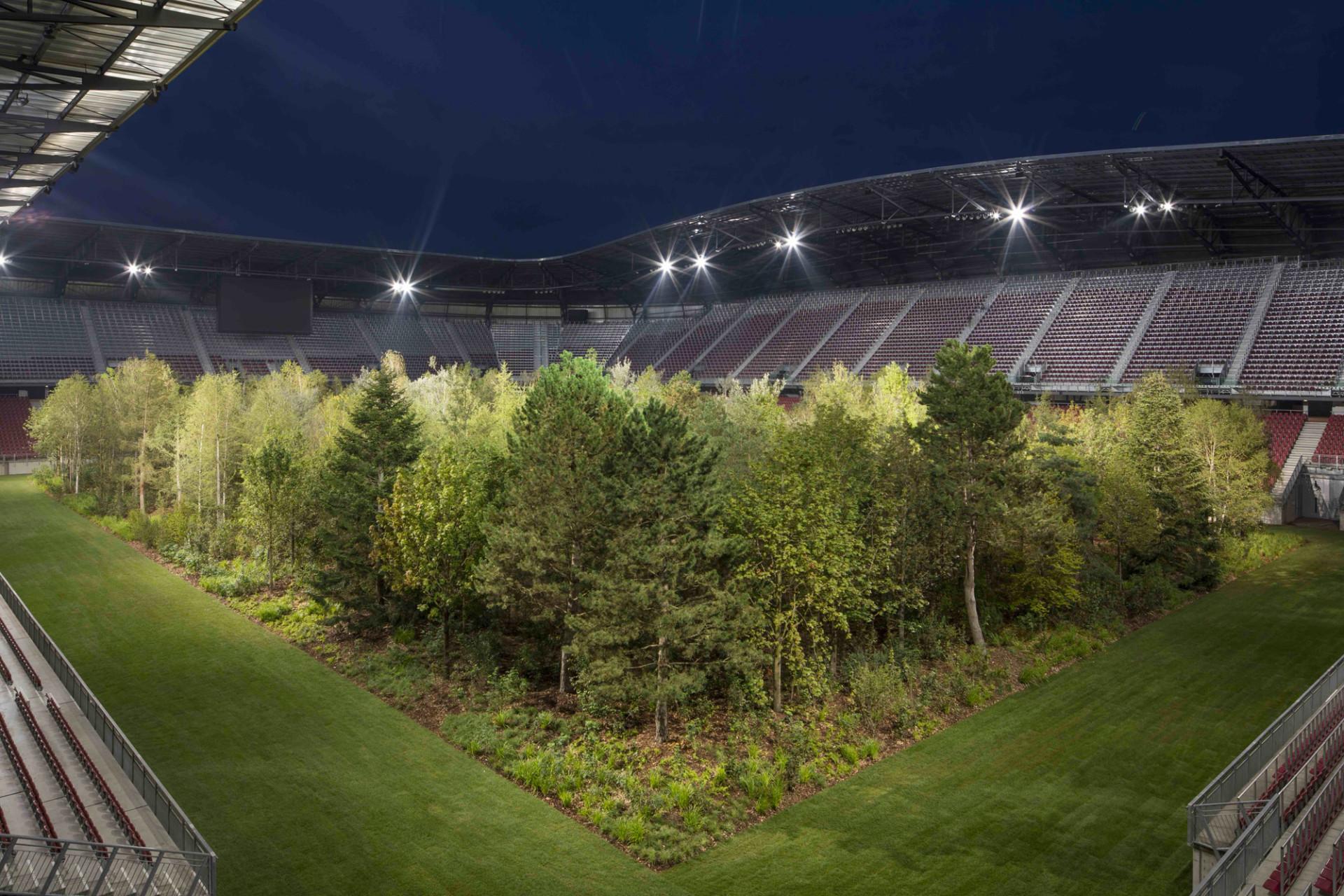 """FOR FOREST - The Unending Attraction of Nature"" (2019), Stadio Wörthersee, Klagenfurt, Austria. Tutte le fotografie di Gerhard Maurer, se non diversamente indicato"
