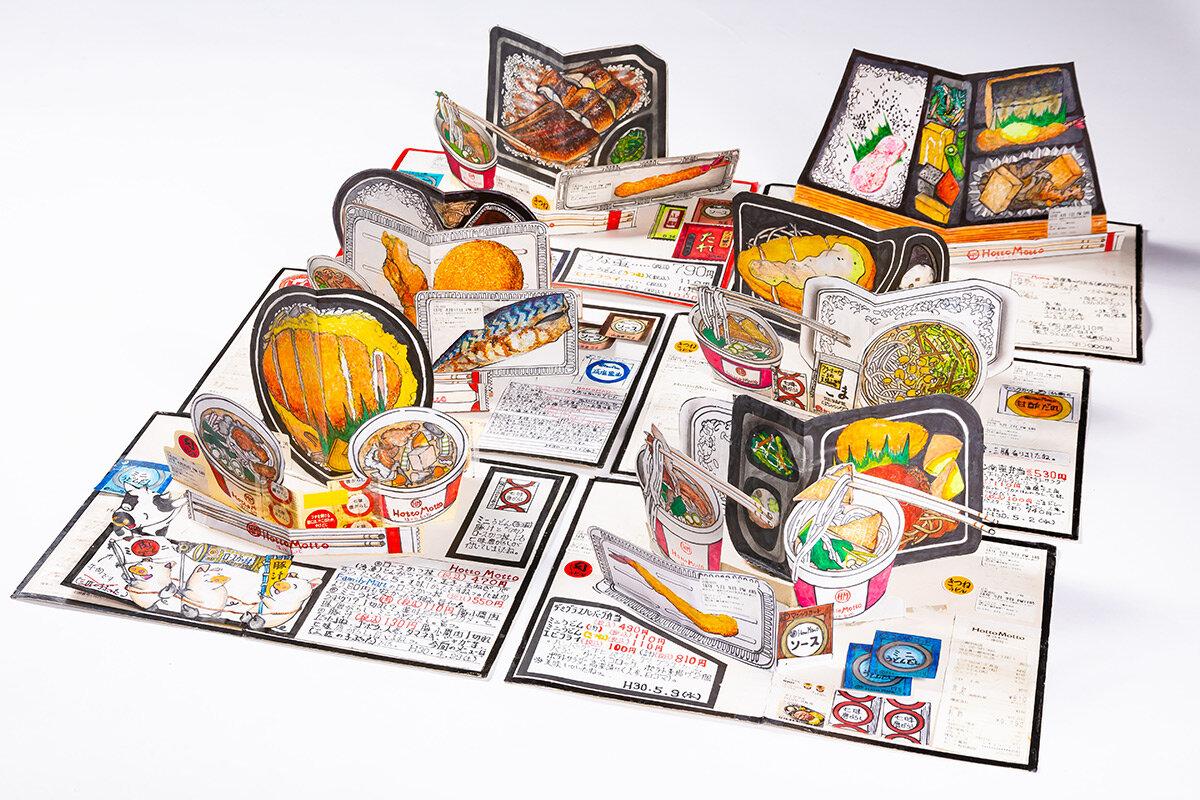 Uno Chef giapponese da 32 anni disegna tutto quello che mangia