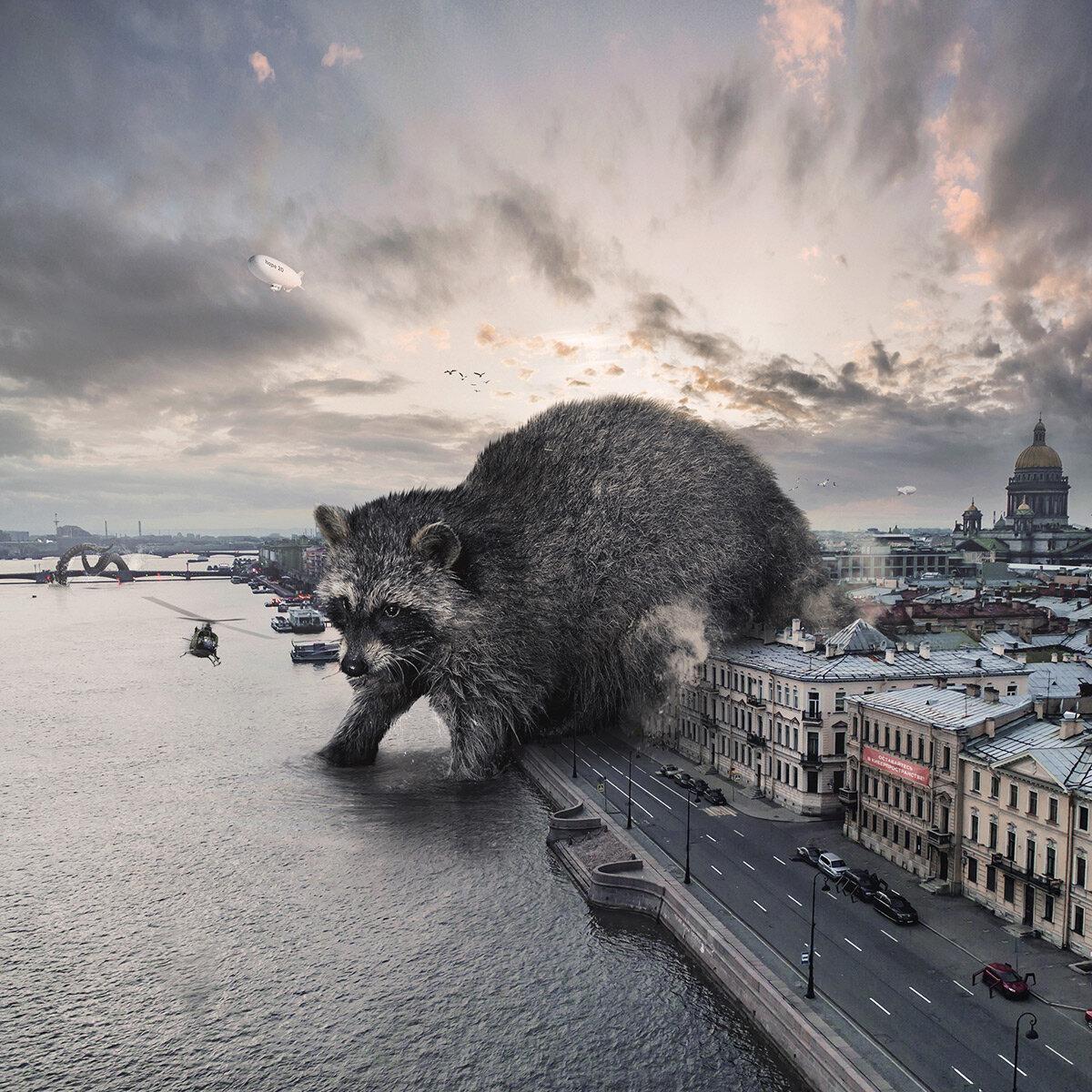 Gli animali giganti di Vadim Solovyov che invadono una Russia fantasy e misteriosa