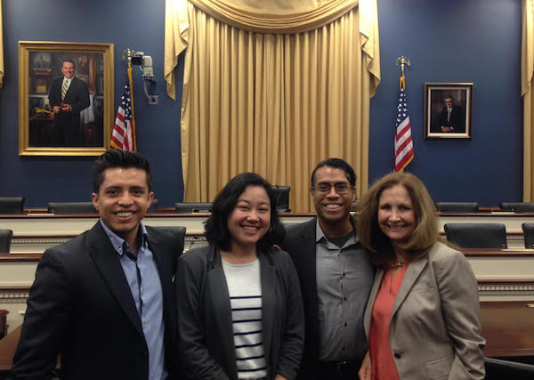 Left to right: Julio Ortiz from  Opening Doors , Jessica Chittaphong from  AnewAmerica ,Arturo A. Noriega from  Centro Community Partners  (Centro) and Claudia Viek of  CAMEO .