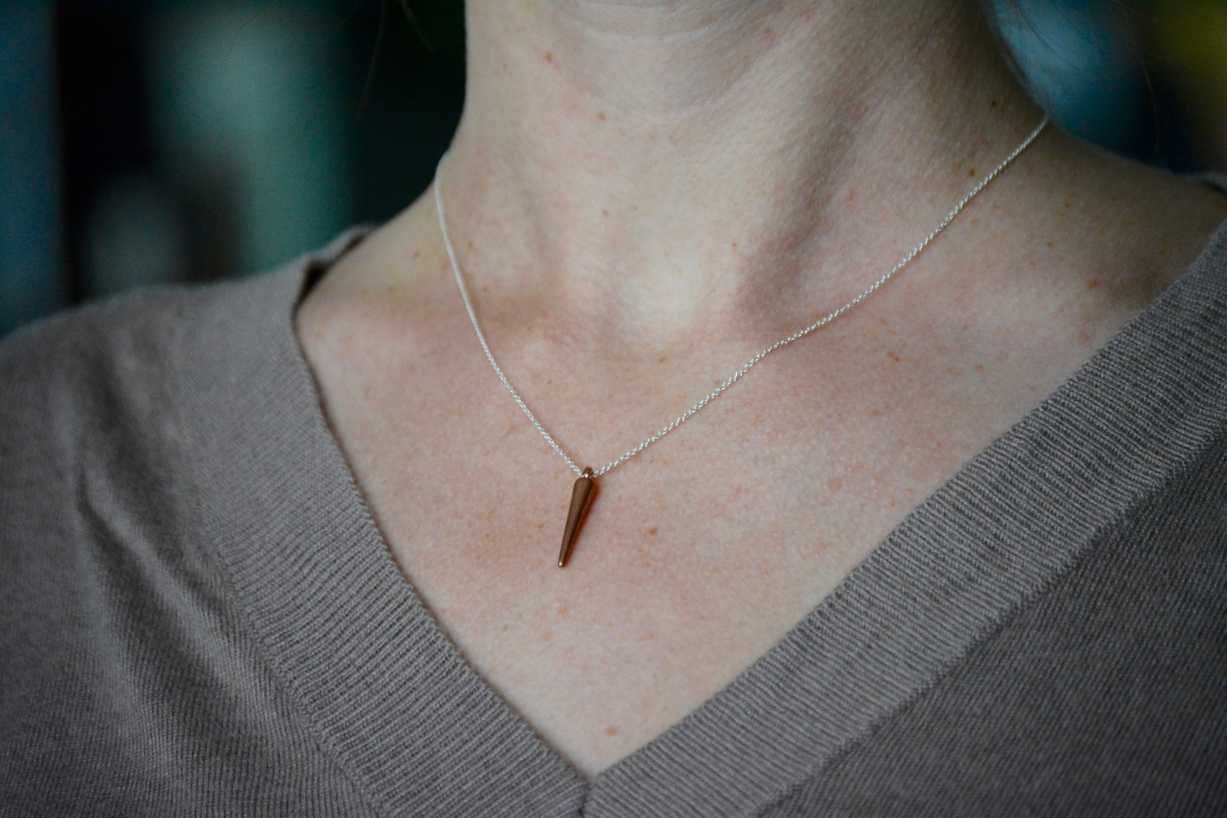 Solitaire Spike Necklace   here