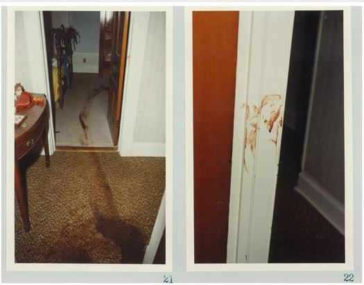 Crime scene of photo of blood throughout the house after Zimmer killed his family. Courtesy: ABC News