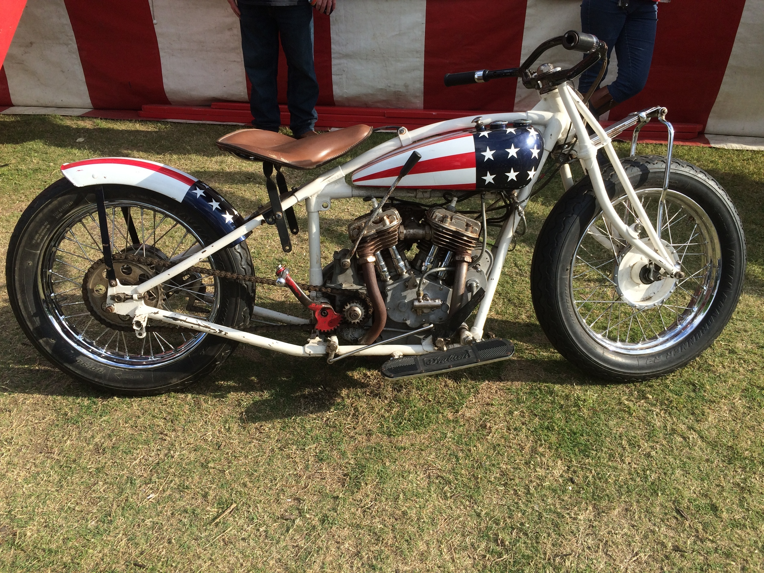 Cool old Indian used in the Wall of Death Show. So badass.