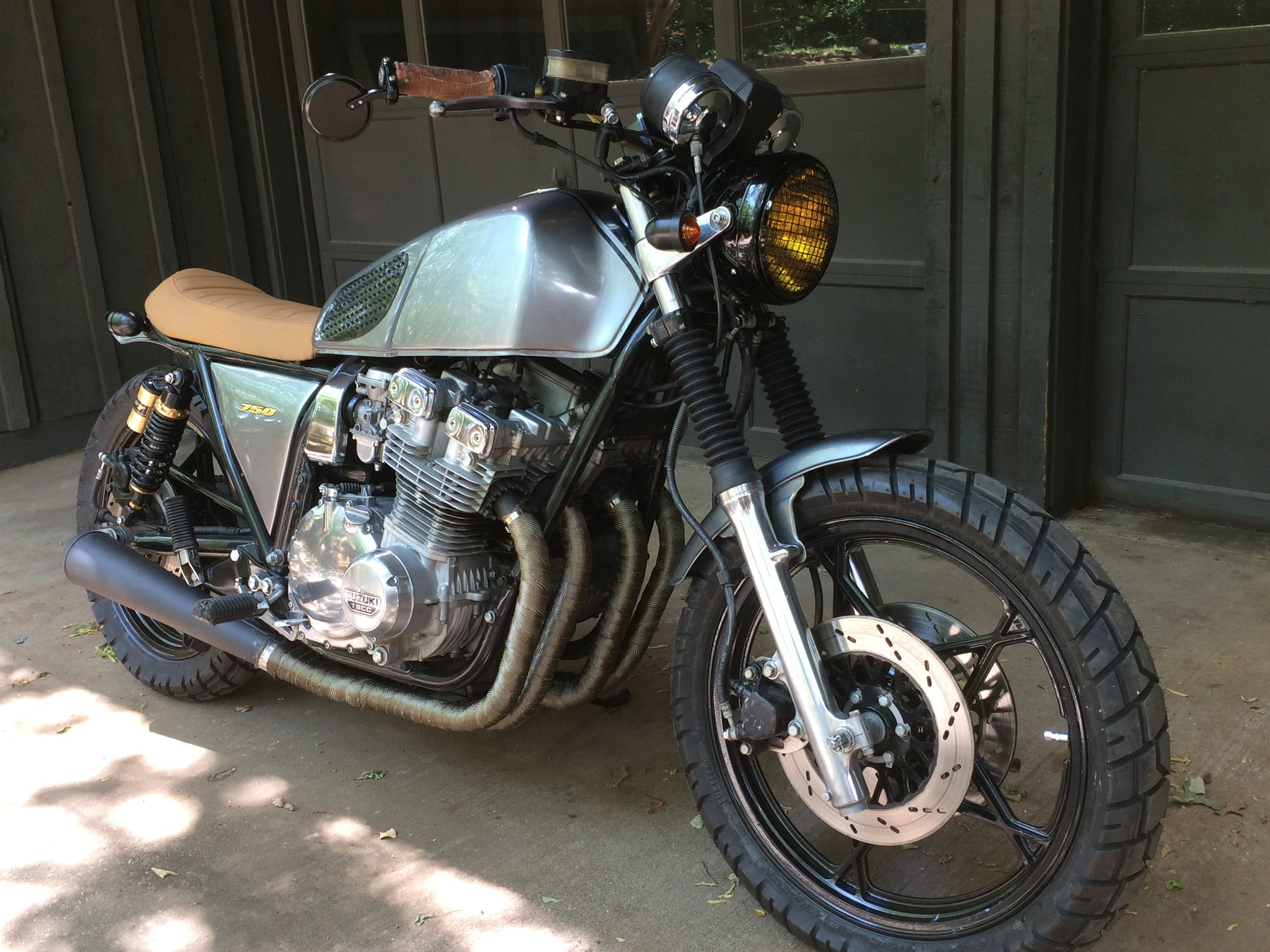 The Suzuki GS750 project completed.