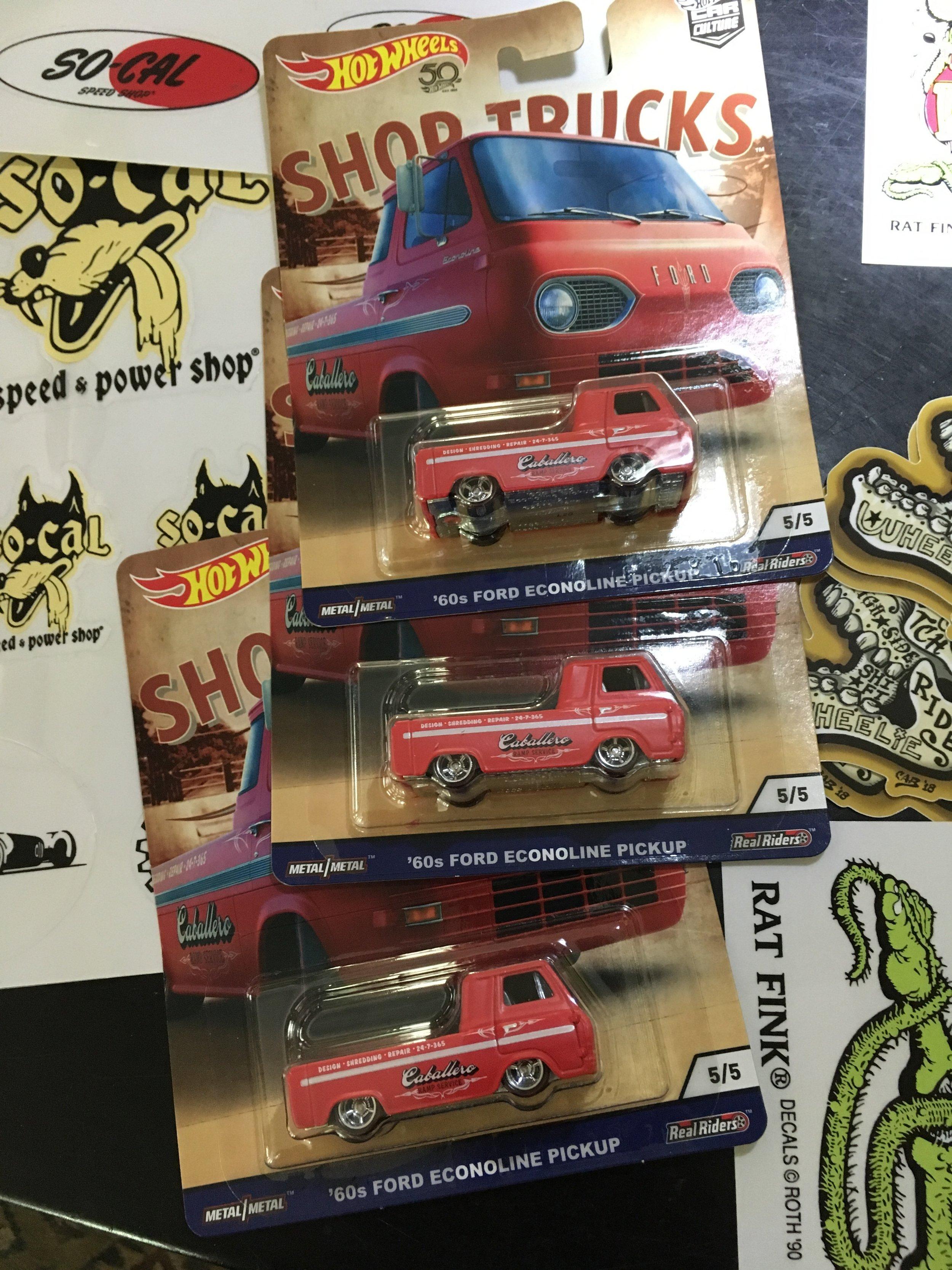 The Hot Wheels Steve Caballero 1965 Econoline truck. Steve sent these for the Dentonmoto boys.