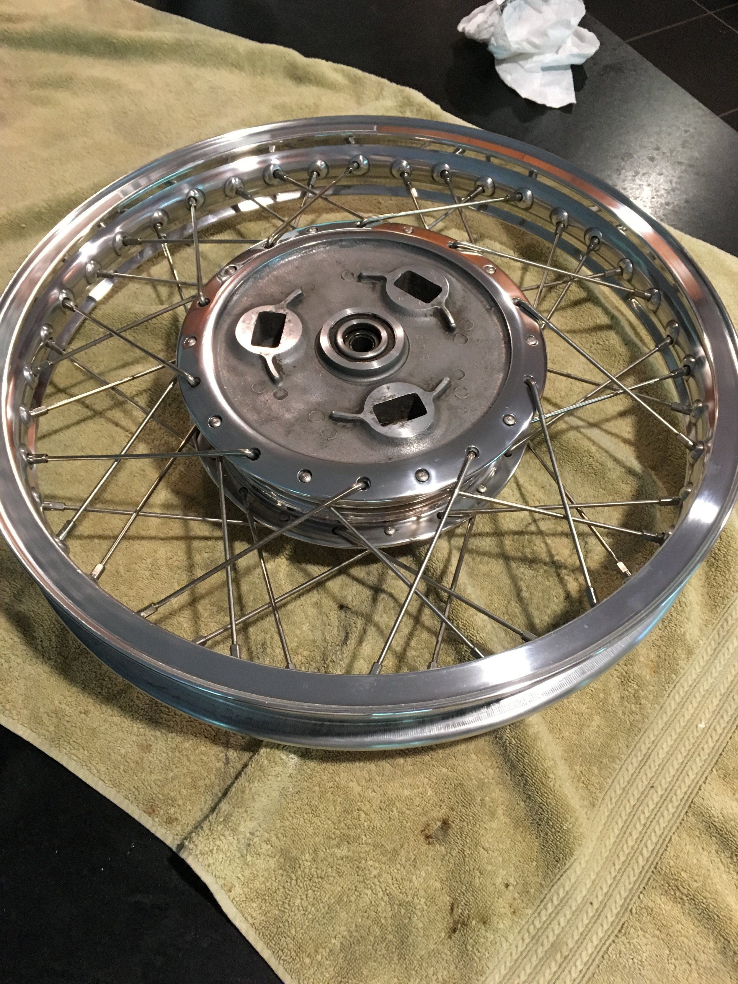 Found a nice Jones shouldered rim and some Buchanan stainless spokes to finish up the wheel.