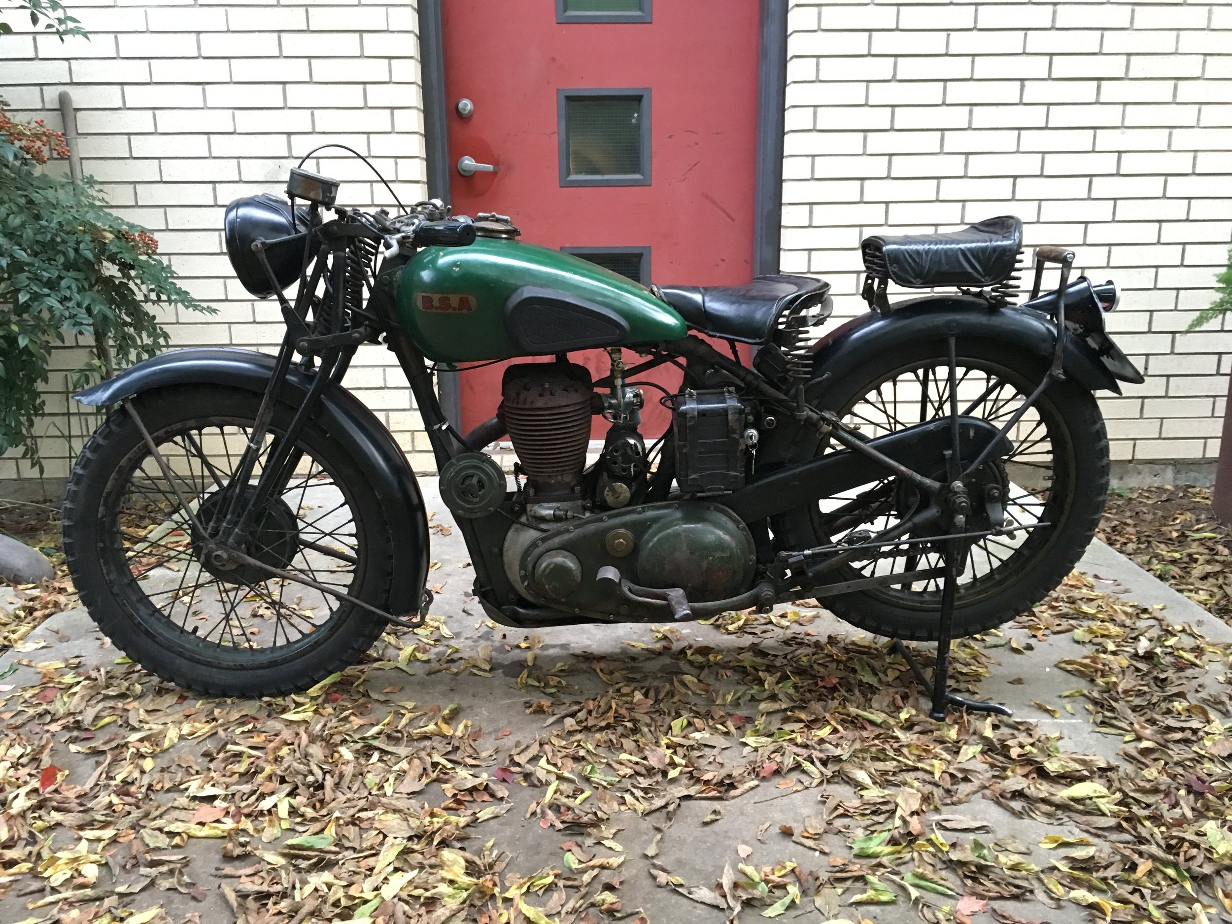 Custom tail light and license plate bracket, rear grab bar, kickstand lever, sorted electrics, new carb, gas leaks fixed, and an engine revival, and she is ready for riding again.