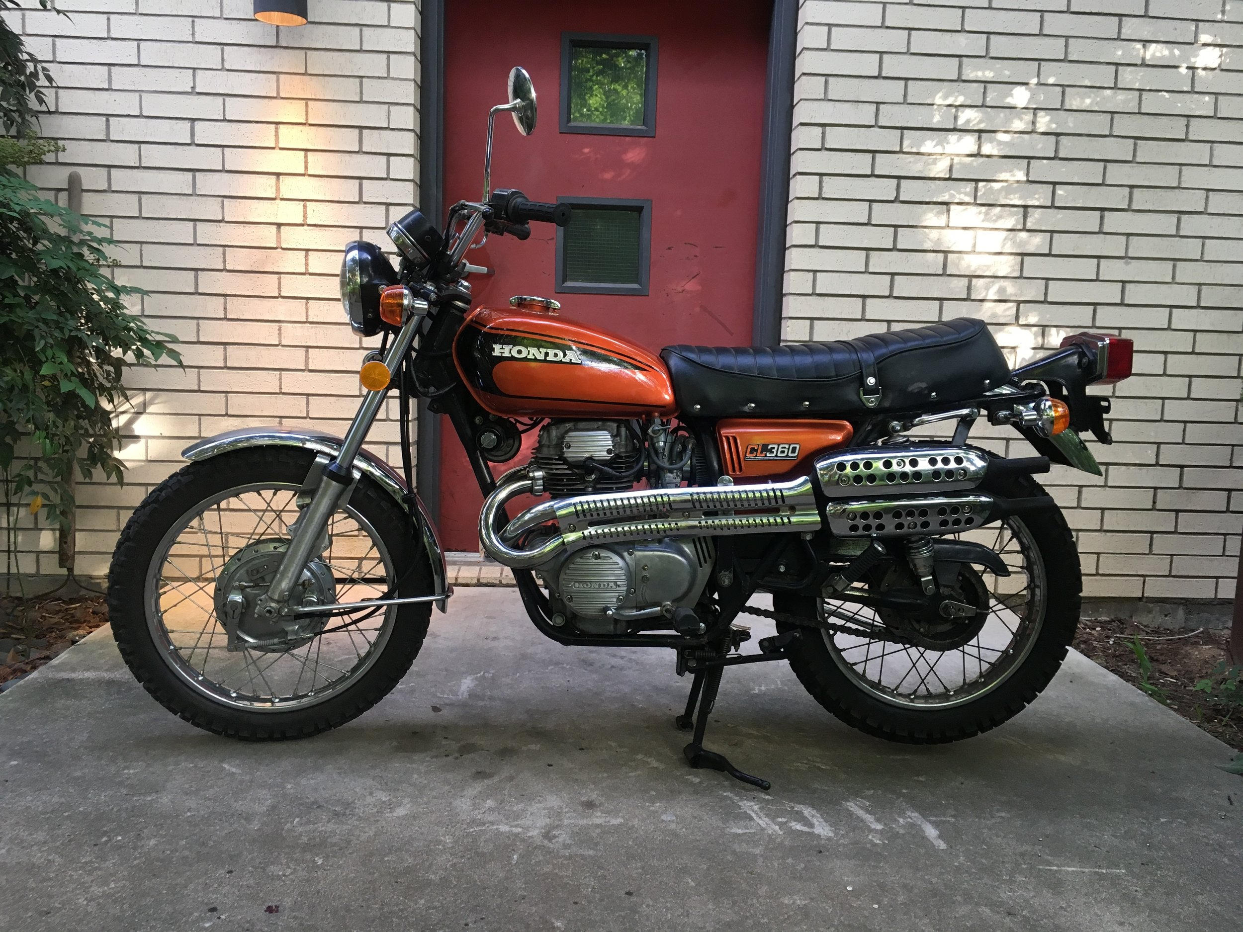 Another familiar bike, this 1974 Honda CL360 came in for a fuel delivery issue and points adjustment, and left running right again.