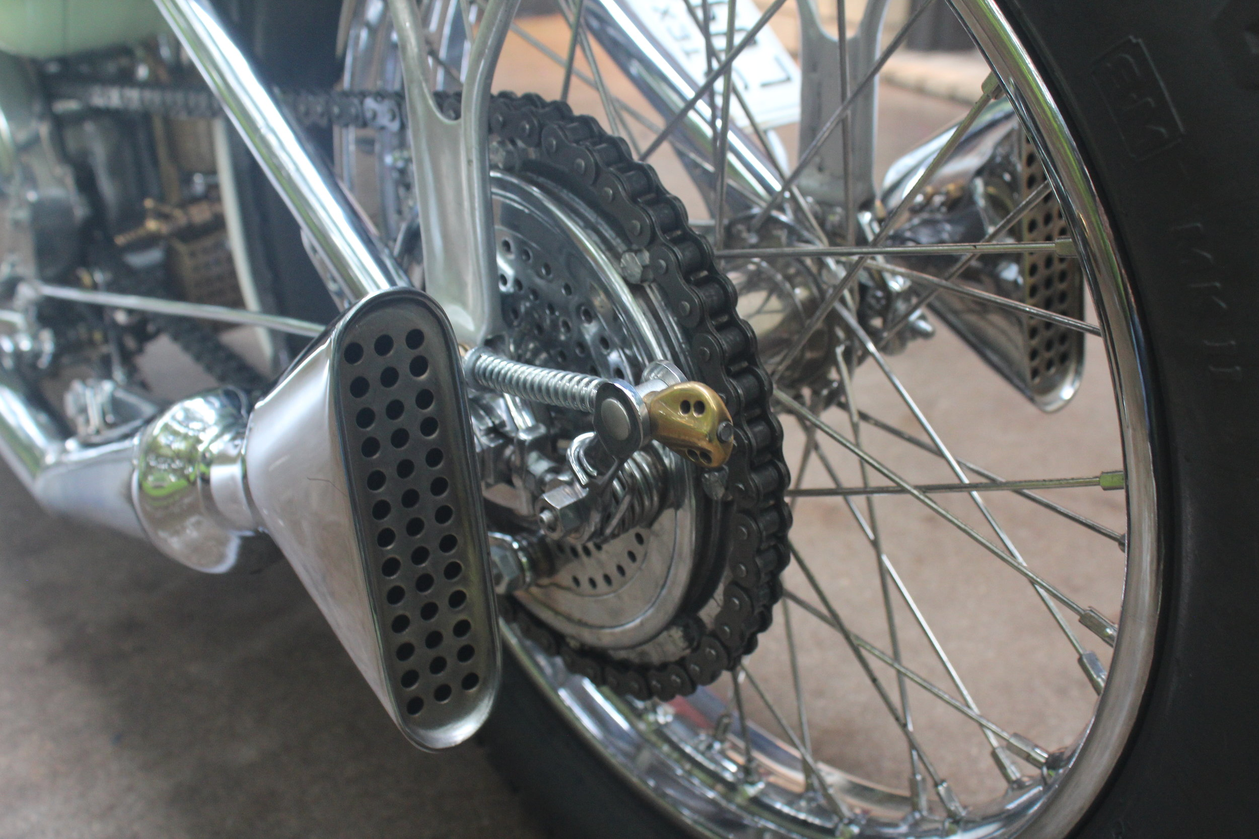 More details on the rear of the bike.