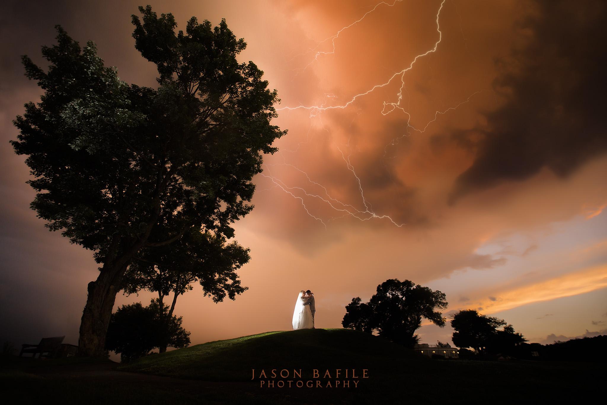 Lightning strikes over Sunnehanna Country Club, Johnstown, PA