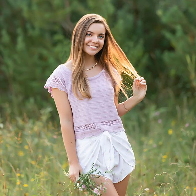 We're out here glowing up with those summer time vibes ☀� I had such an awesome night with Molly creating her High School Senior Portraits 🌸 We chased after so many different looks but this was one of Molly's absolutely favorites…and mine too! As soon as I saw this outfit I knew that I was going to take her to this field where the tiniest purple wildflowers grow that would compliment her top. There is so much that I love about this photograph…the soft vibes, the golden sun pouring in from behind, and that smile that could light up any room in the entire world 😊 This was easily one of my favorite photo shoots of all time…TRUST…you NEED to stay locked here to see more of what we created together…the photographs are straight FIREEEEEEEEE.� �� �💥 2020 SENIORS — I am just about COMPLETELY booked for the year. If you are hoping to jump into my schedule, connect with me today by visiting my web site…hit the link below 🙌�