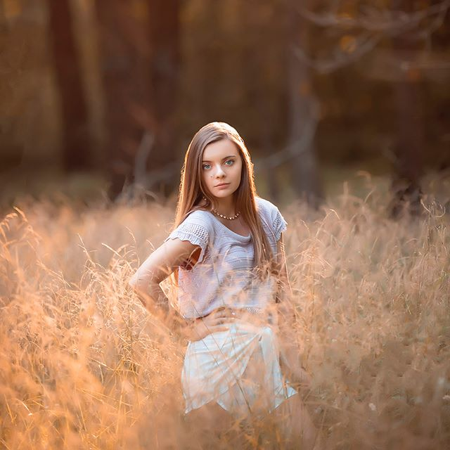"THIS PHOTOOOOO OF MOLLY 😍 💃🏾 This was a completely unplanned photo from Molly's High School Senior Portraits. We were driving to the next location when I saw a razor thin sliver of light cutting through the trees into this tiny field that was surrounded by the largest ferns on planet earth. I have to admit…I drove RIGHT PAST IT 🤦🏽‍♂️ I thought about it for a few seconds then the car quickly went into reverse. I know I say it often but I ALWAYS trust my creative instinct. As Molly and I were both trudging through a swamp to get to this little patch of light I had to remind her that, ""Intuition is the whisper of the soul"". Hahaha 😬 I am so happy that we chased after this photograph…I think we all had the same reaction when we saw this photograph on the big screen during her reveal 😍 TRUST — stay locked here to see more of Molly's beautiful High School Senior Portraits.⁣ ⁣⁣ ⁣💥 2020 SENIORS — I am just about COMPLETELY booked for the year — only THREE slots left. If you are hoping to jump into my schedule, connect with me today by visiting my web site…hit the link below 🙌🏽"