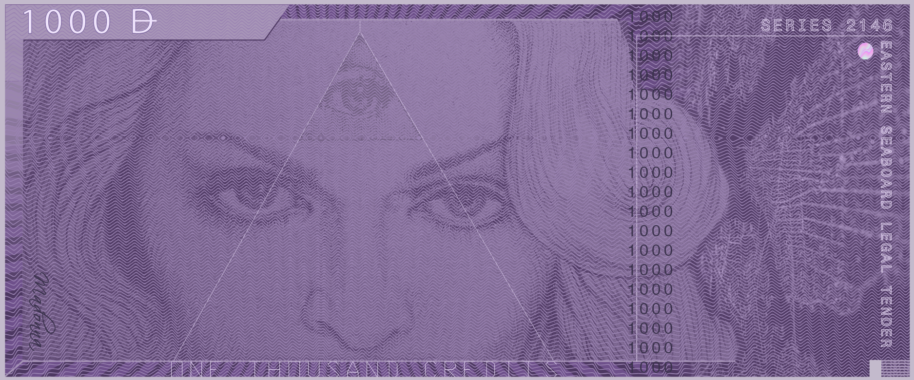 Copy of Front of Madonna 1000 note.