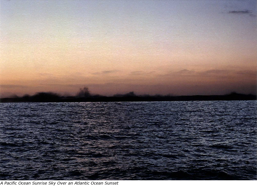 A Pacific Ocean Sunrise Sky over an Atlantic Ocean Sunset with title.jpg